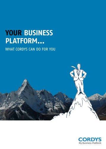 Your business platform What Cordys Can Do For - My Business ...
