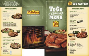 MEXICAN MENU - El Pollo Loco