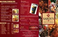 Download Printable Menu - Sardi's