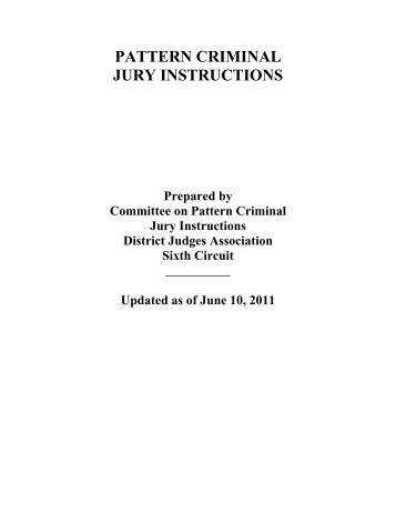 Pattern Criminal Federal Jury Instructions For The Seventh Circuit