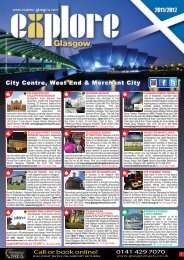 Download the FREE Explore Glasgow 2012 Visitor Guide