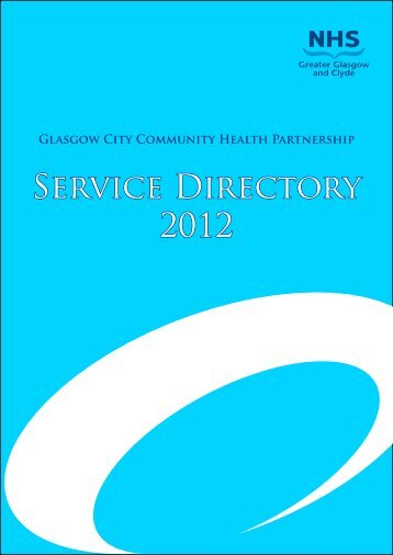 Service Directory 2012 - NHS Greater Glasgow and Clyde