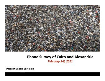 PMEP Egypt Survey Feb 5-8 2011 Methodology.pptx - The ...