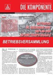 Ausgabe 5 / 2007 - IG Metall Braunschweig