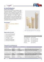 Kunststoff Serie Typ PP-Natural - Infiltec GmbH