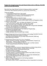 Protokoll der Vorstandsversammlung des Bürgerschützenvereins am