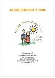 JAHRESBERICHT 2006 - Kinderschutzzentrum Innviertel