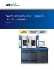 SOLiD™ 4 System Library Preparation Guide - Invitrogen