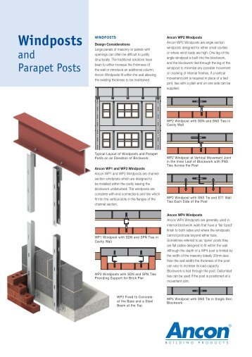 Windposts and Parapet Posts - Ancon Building Products