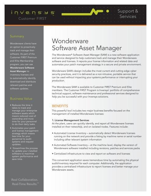 Wonderware licenses