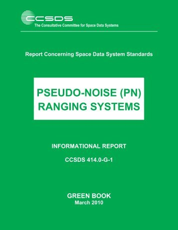 Pseudo-Noise (PN) Ranging Systems - CCSDS