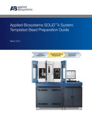 Applied Biosystems SOLiD™4 System Templated Bead Preparation ...