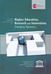 Higher education, research and innovation ... - unesdoc - Unesco