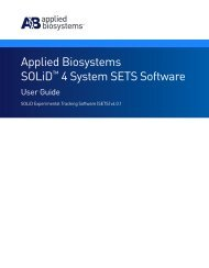 Applied Biosystems SOLiD™ 4 System SETS Software User Guide ...