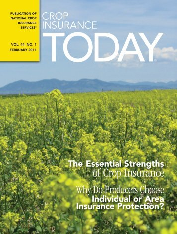 Crop Insurance Today Vol 44 No 1 February 2011 - National Crop ...