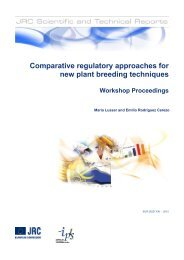 Comparative regulatory approaches for new plant breeding ...