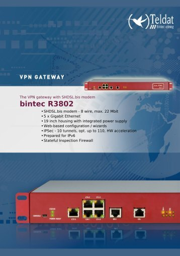 bintec r3802 data sheet