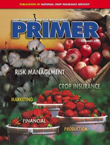 ¥ NCIS Primer 2 - National Crop Insurance Services