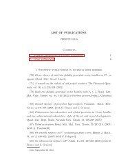 LIST OF PUBLICATIONS. Contents 1. Scientific publications in ...