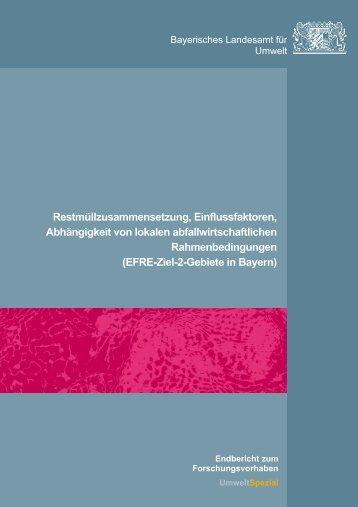 Restmüllzusammensetzung, Einflussfaktoren ... - UOK - Bayern