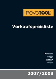 Verkaufspreisliste 2007/2008 - Revotool