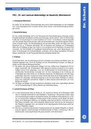 PVC-, CV- und Linoleum-Bodenbeläge im Haushalts-/Wohnbereich