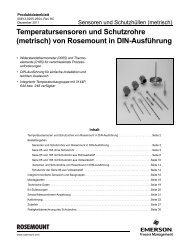 Temperatursensoren und Schutzrohre (metrisch) - Emerson Process ...