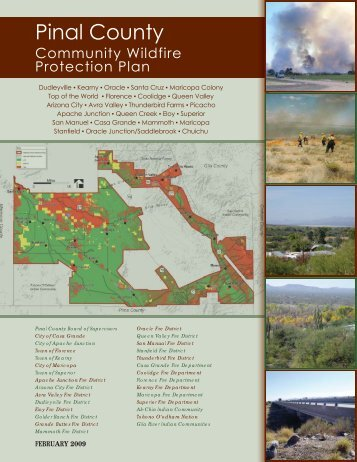 Community Wildfire Protection Plan (CWPP) - Pinal County