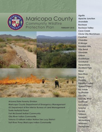 Maricopa County Community Wildfire Protection Plan