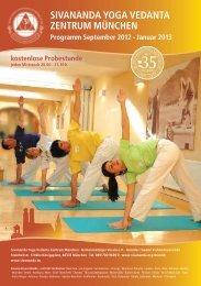 Neues Programm 2013 - Sivananda Yoga