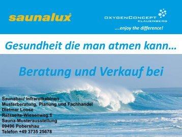 enjoy the difference! - saunastern