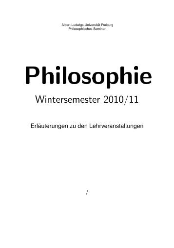 Kommentiertes Vorlesungsverzeichnis zum Wintersemester 2010 ...
