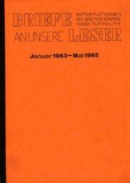 Januar 1963- - der Gruppe Arbeiterpolitik