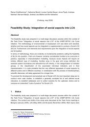 Feasibility Study: Integration of social aspects into LCA - SAI Platform