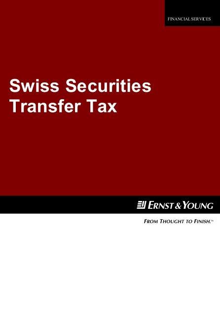 Swiss Securities Transfer Tax - Home - Ernst & Young - Schweiz