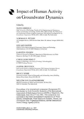 IAHS Publication no. 269