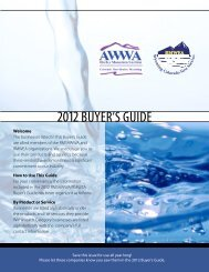 2012 Buyers Guide - Rocky Mountain Water Environment Association