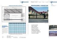 FREITRAGENDE SCHIEBETORE - Pletscher & Co. AG