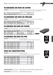 planchers en bois de sapin planchers en bois - Pletscher & Co. AG