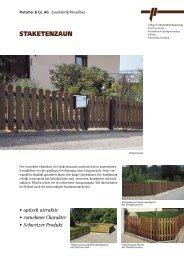 Staketenzaun (600 KB) - Pletscher & Co. AG