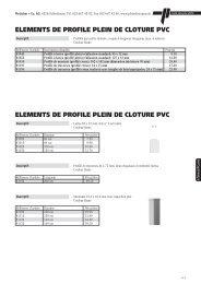 elements de profile plein de cloture pvc elements - Pletscher & Co. AG