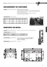 montants en metal encadrement de container - Pletscher & Co. AG