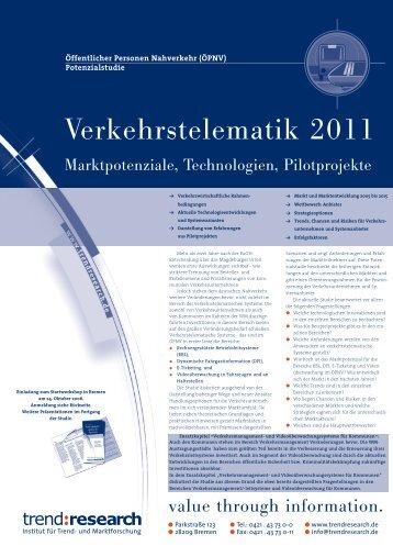 Verkehrstelematik 2011 - trend:research