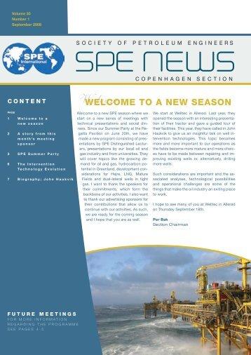 Newsletter September 2008 - spe copenhagen