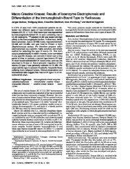 Macro creatine kinases - Clinical Chemistry