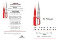 Felix Mendelssohn Bartholdy: Elias - Hauptkirche St. Nikolai