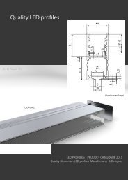 Quality LED profiles - LED Lighting