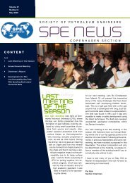 Newsletter May 2009 - spe copenhagen