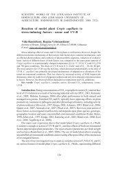 ozone and UV-B - Sodininkystė ir daržininkystė