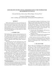 EXPLORATION OF RING OSCILLATOR DESIGN SPACE FOR ...